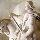 Statue of Saint Martin (nave) ; restoration Dom Adolphe Le Méhauté