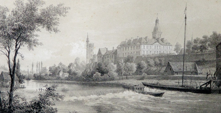 engraving Solesmes around 1850