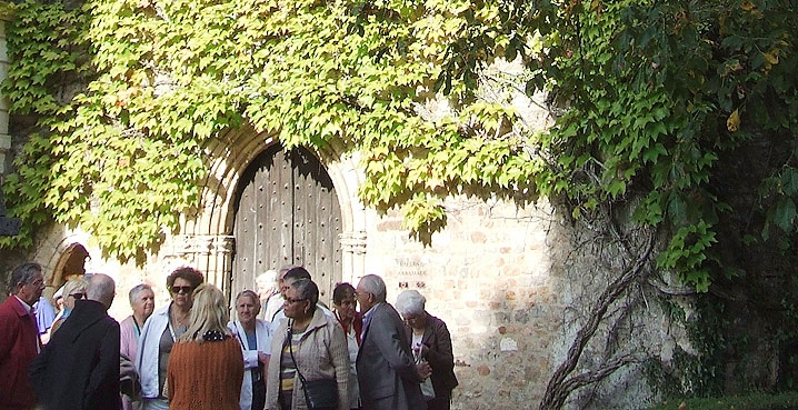 group visitors abbey of solesmes