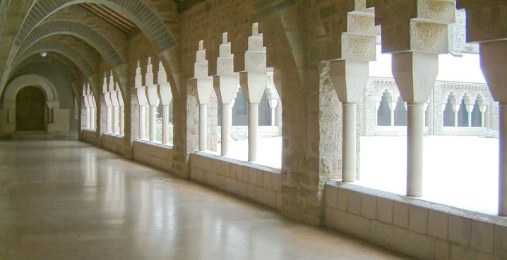 Large cloister of Solesmes