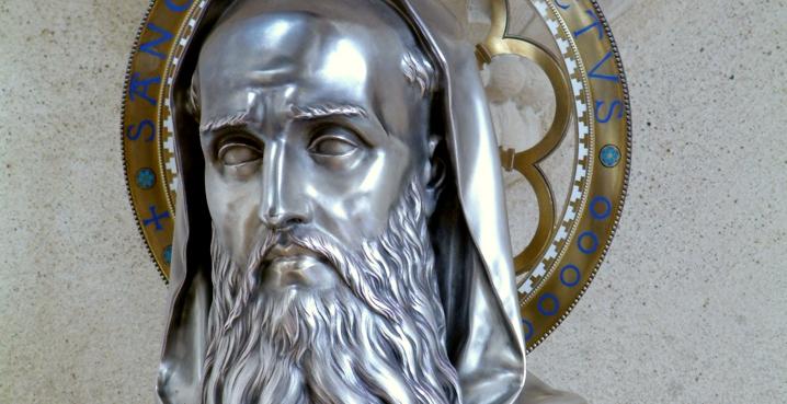 reliquary of saint Benedict Solesmes