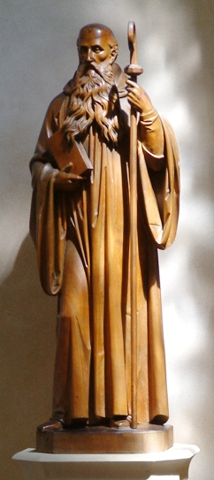 statue of saint Benedict Solesmes